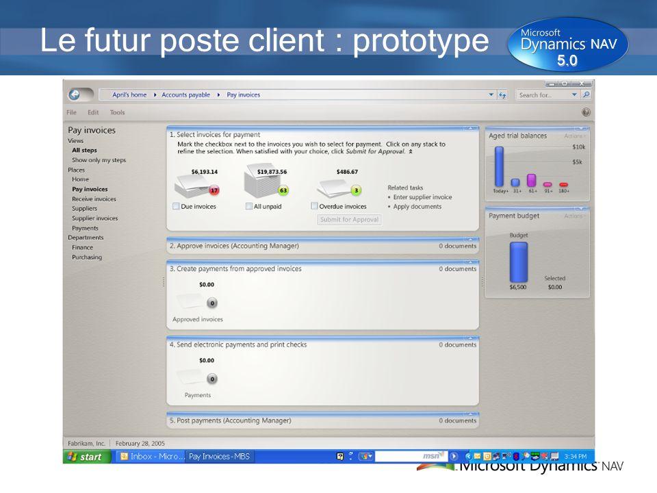 35 Le futur poste client : prototype 5.0 NAV