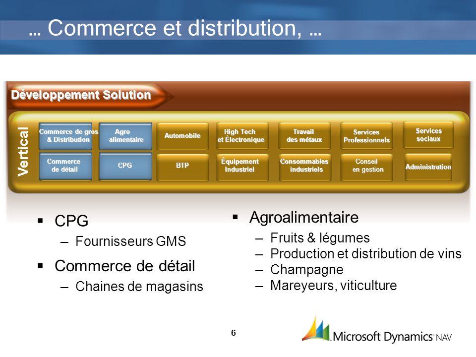 6 … Commerce et distribution, … CPG Fournisseurs GMS Agroalimentaire Fruits & légumes Production et distribution de vins Champagne Mareyeurs, viticult
