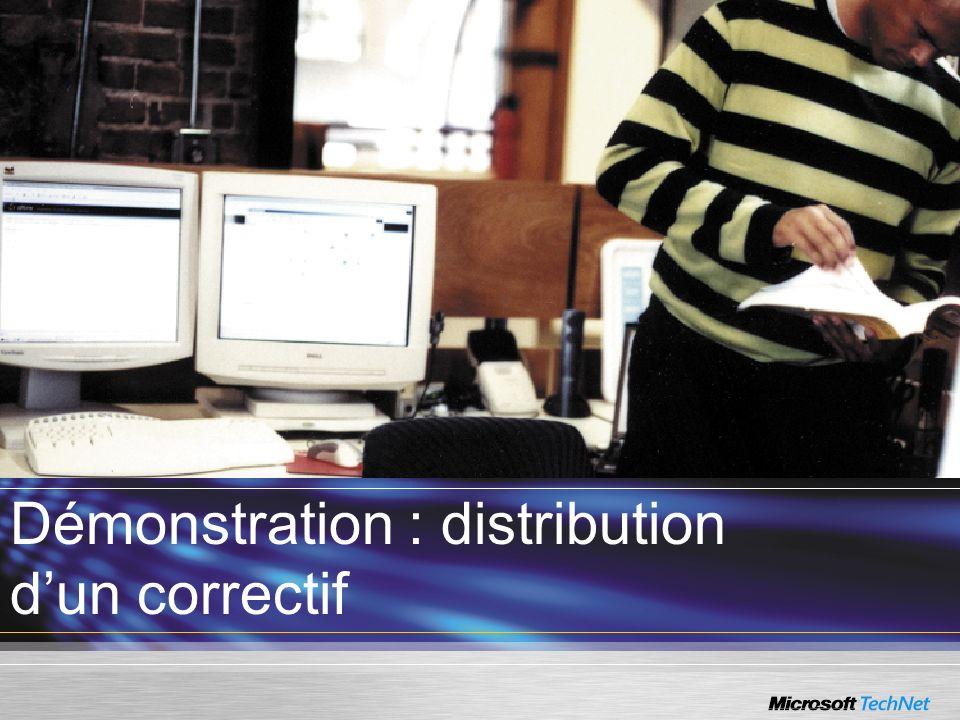 Démonstration : distribution dun correctif