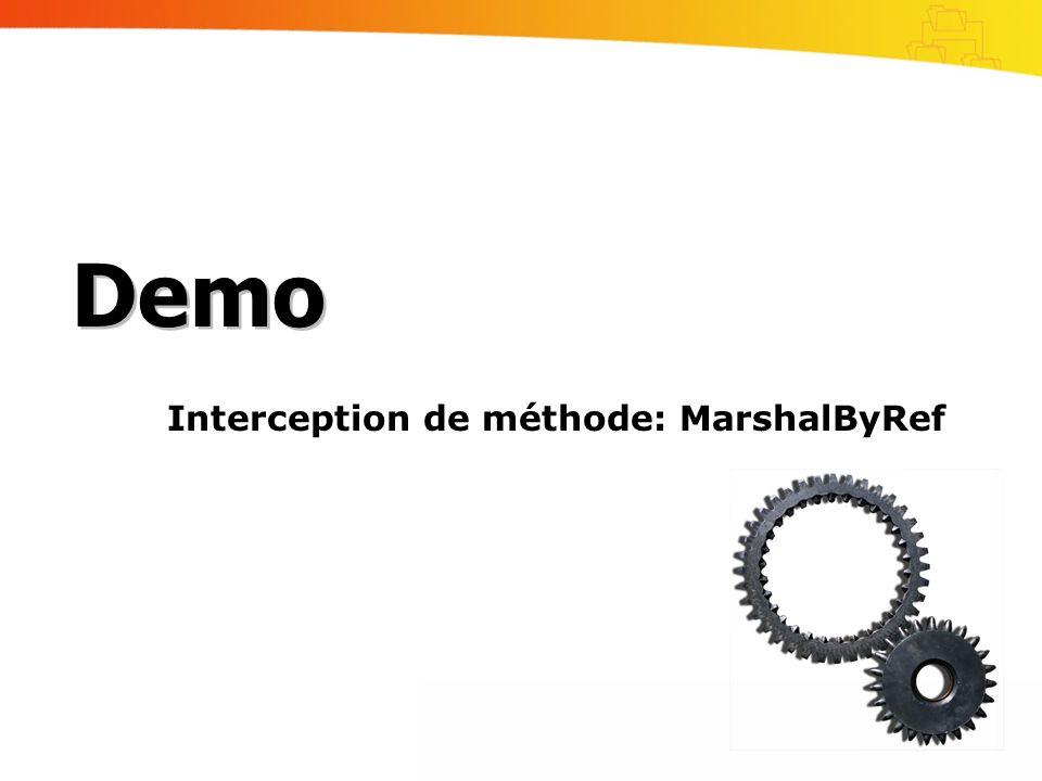 Interception de méthode: MarshalByRef Demo