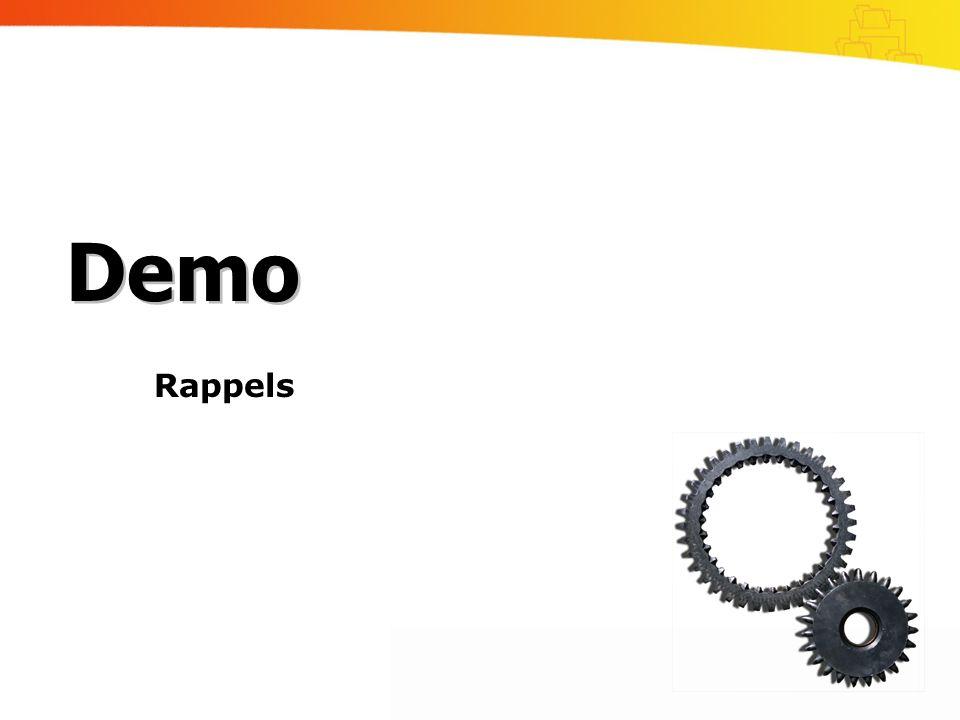 Rappels Demo