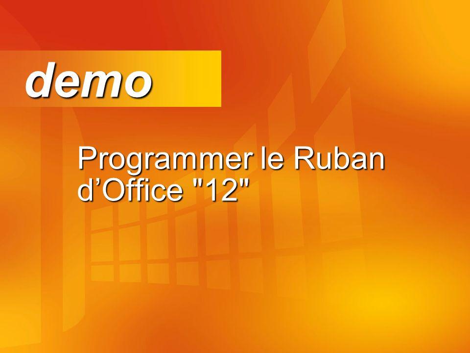 Programmer le Ruban dOffice 12 demo demo
