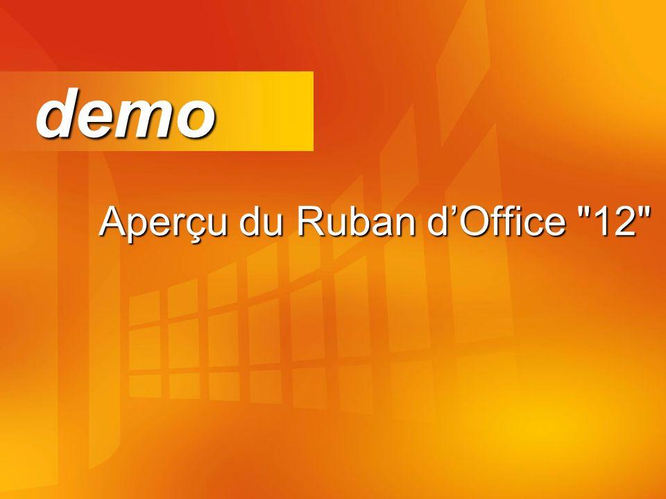 Aperçu du Ruban dOffice 12 demo demo