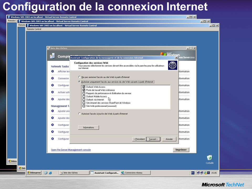 Configuration de la connexion Internet