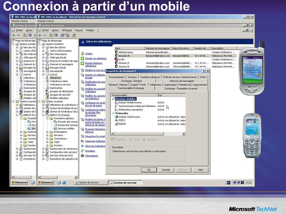 Connexion à partir dun mobile