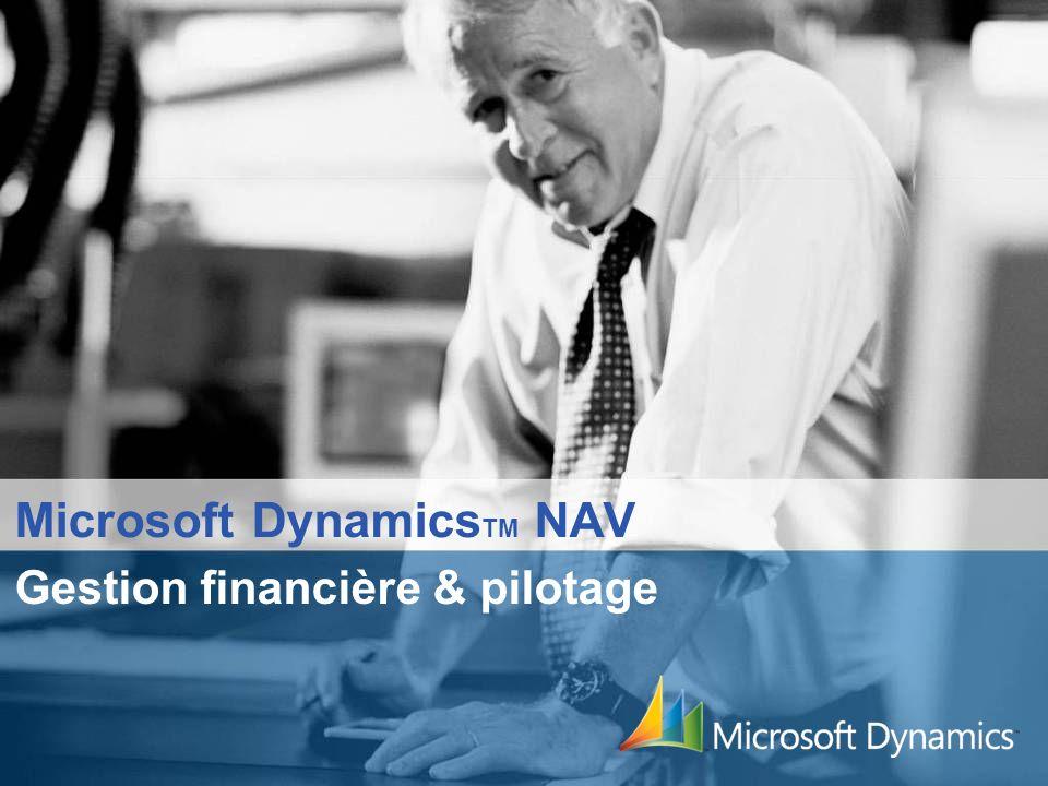 Microsoft Dynamics TM NAV Gestion financière & pilotage
