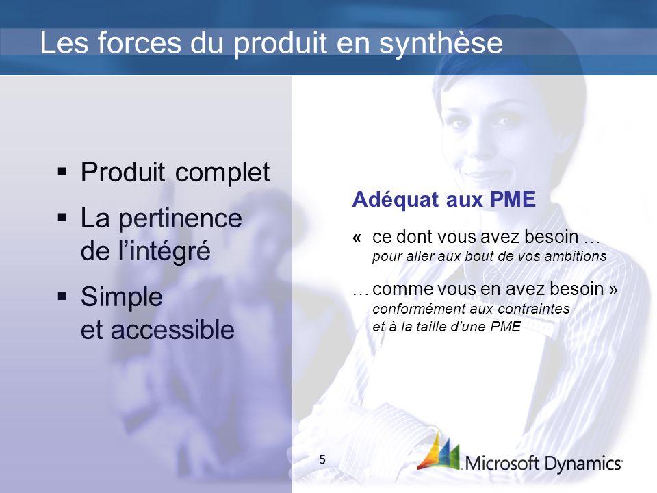 5 Produit complet La pertinence de lintégré Simple et accessible Les forces du produit en synthèse Adéquat aux PME «ce dont vous avez besoin … pour al