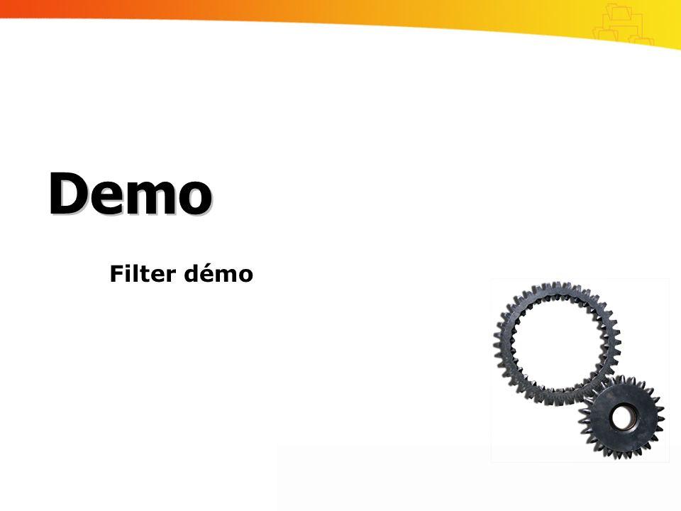 Filter démo Demo
