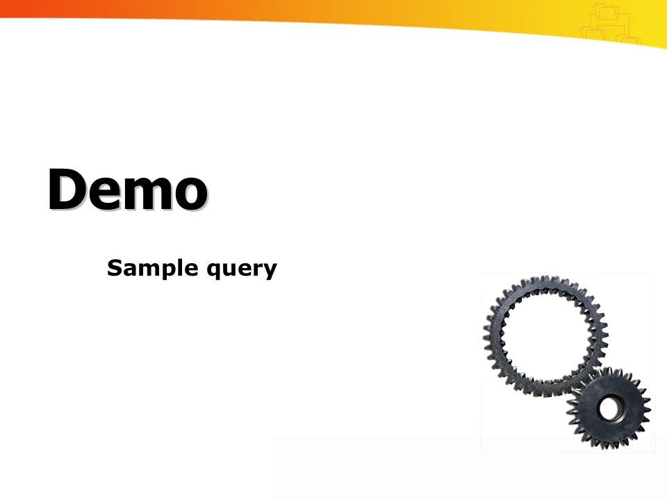 Sample query Demo