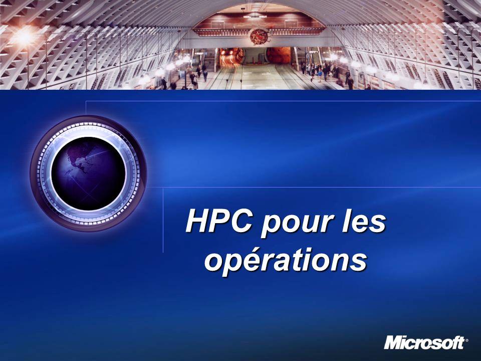 1 HPC pour les opérations