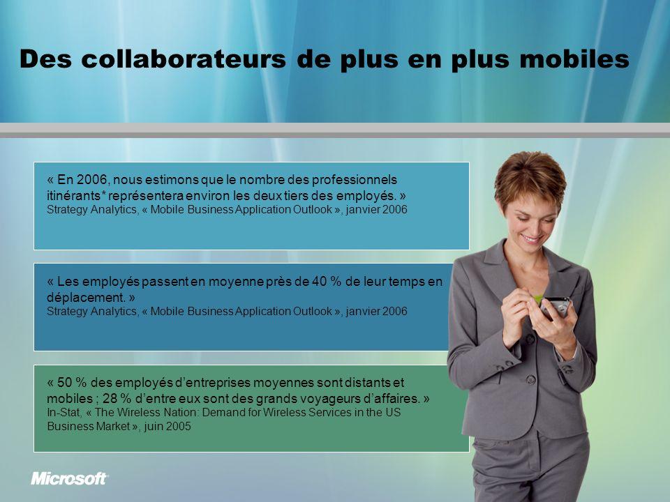 Les investissements dans lentreprise mobile sont en pleine accélération « 80 % des organisations qui ont rendu mobile au moins une application ont déclaré que celle-ci répondait ou dépassait leurs attentes.