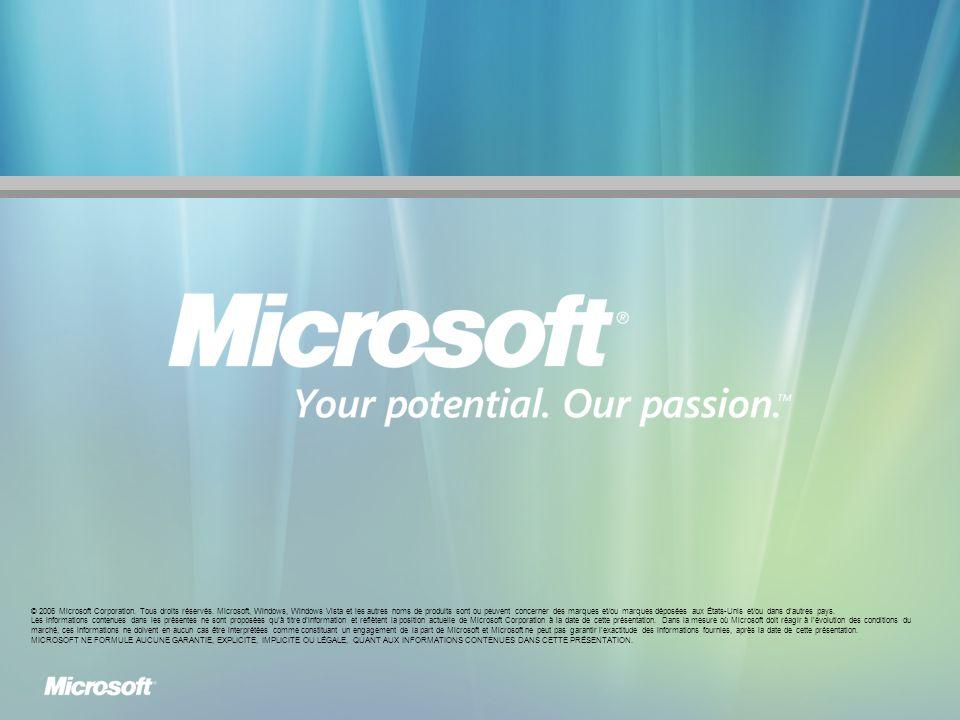 © 2006 Microsoft Corporation.Tous droits réservés.