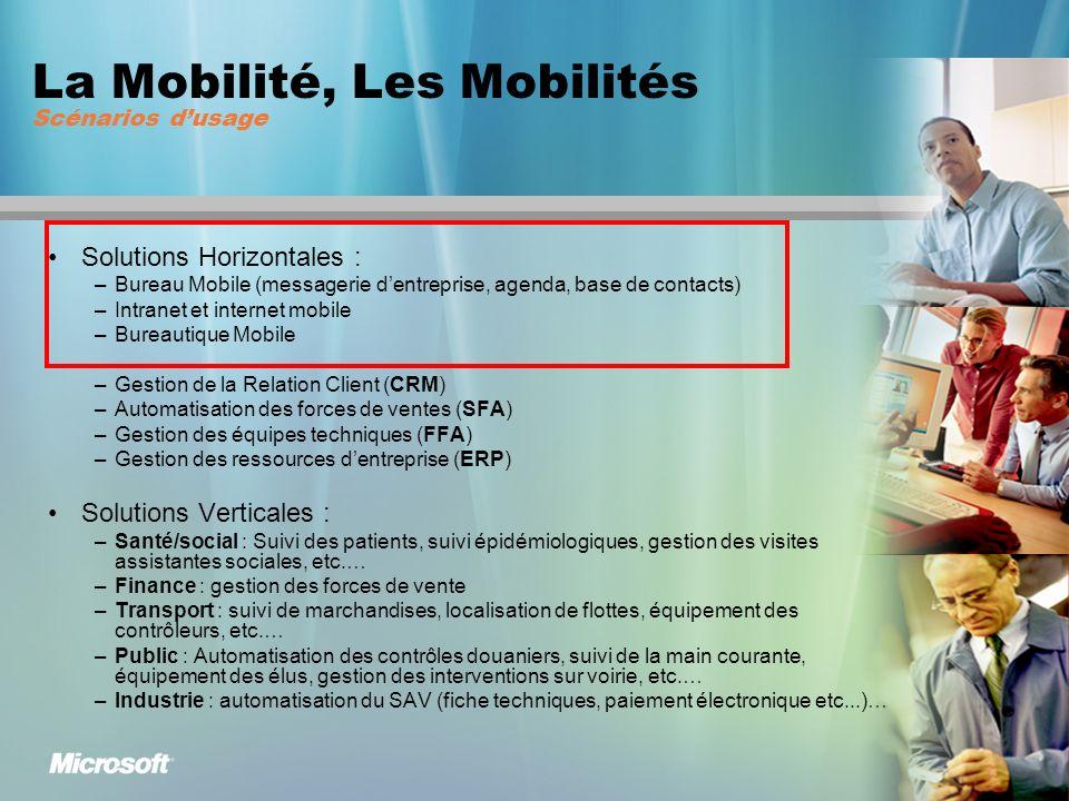 Office Mobile ou synonyme de productivité mobile Nouveauté Windows Mobile 5.0 : Powerpoint Mobile … Et aussi : Accès Hotmail, MSN Messenger, Windows Media Player, Internet Explorer et un catalogue de 18 000 applications développées pour Windows Mobile Ex.