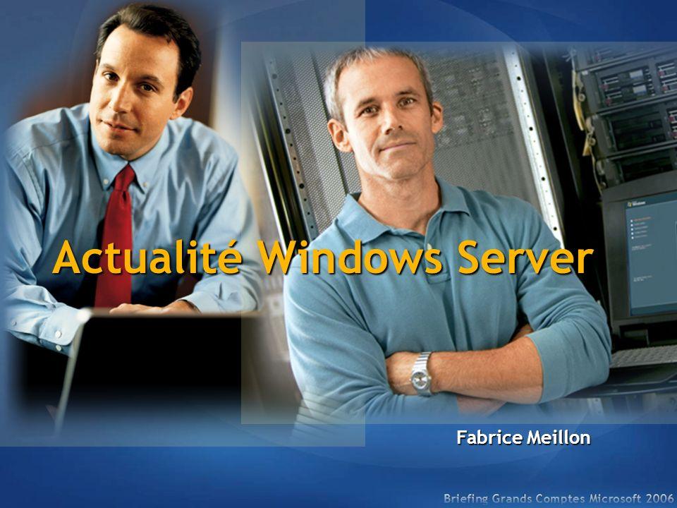 Actualité Windows Server Fabrice Meillon