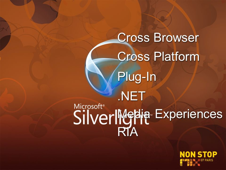 Cross Platform Cross Browser Media Experiences.NET.NET Plug-InPlug-In RIARIA