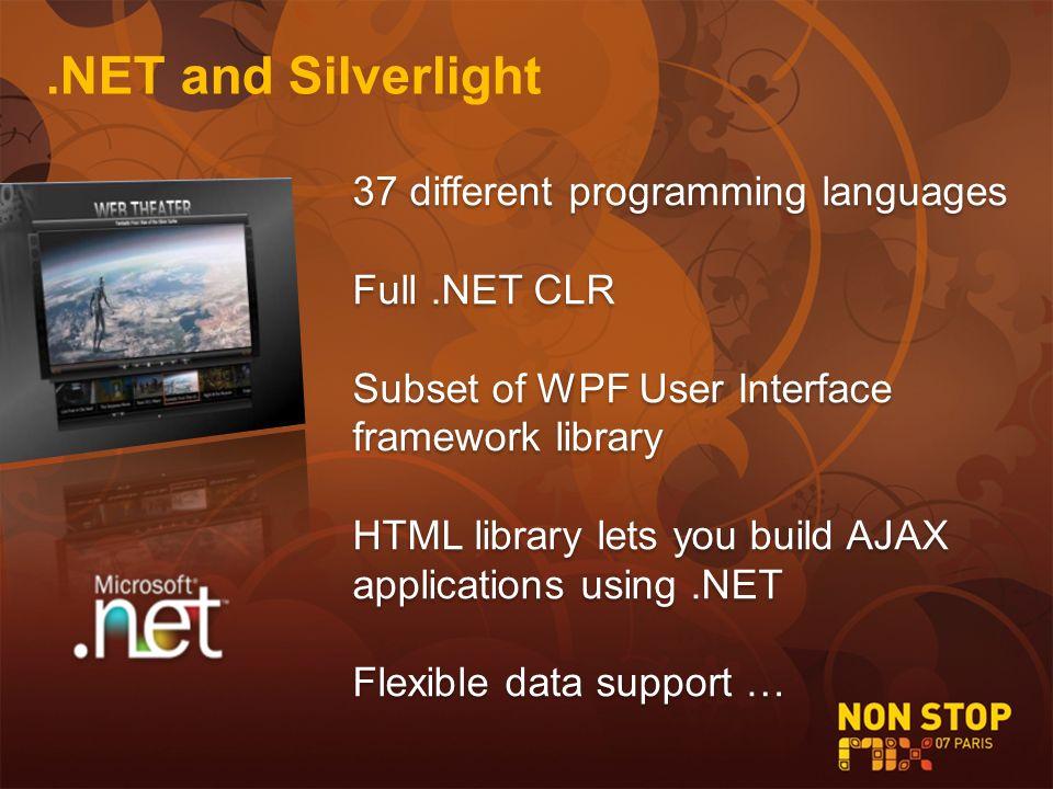 Silverlight.NET Applications Mitsu Furuta Microsoft France DemoDemo