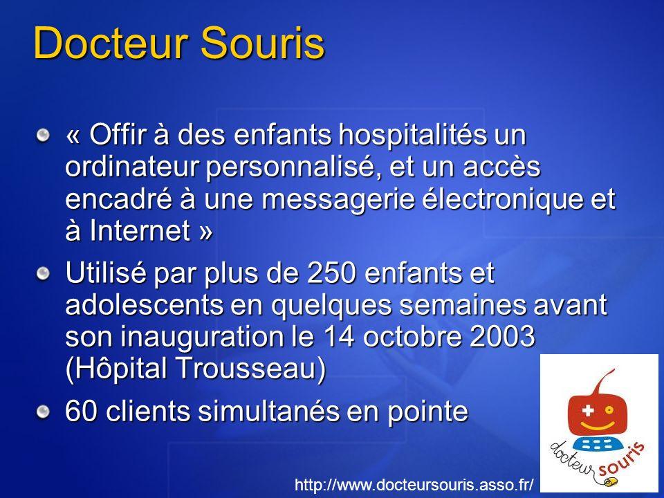Docteur Souris « Offir à des enfants hospitalités un ordinateur personnalisé, et un accès encadré à une messagerie électronique et à Internet » Utilis