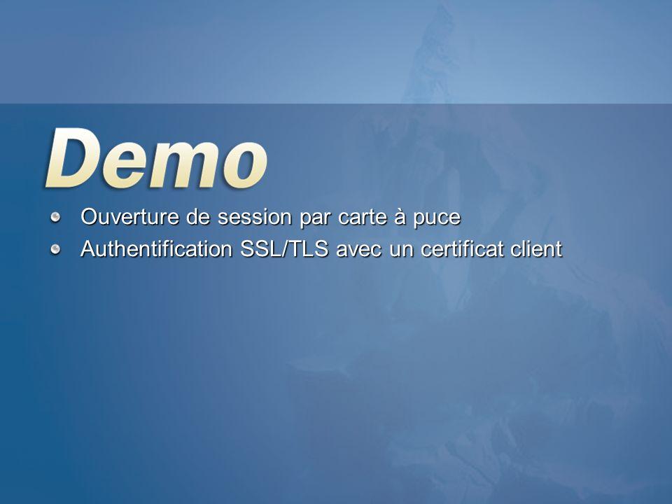 Ouverture de session par carte à puce Authentification SSL/TLS avec un certificat client