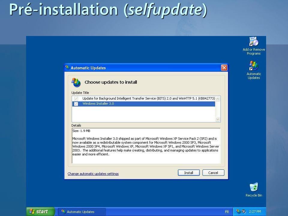 Pré-installation (selfupdate)