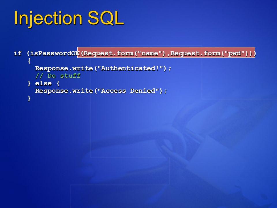 Composants mis en jeu Application Web IIS 5.0 Windows 2000 Advanced Server Stratégies IPsec Gestion et surveillance à distance SQL Server 2000 Mots de passe Défense en profondeur (stratégie de défense par couches successives) Remarque: aucun pare-feu utilisé!