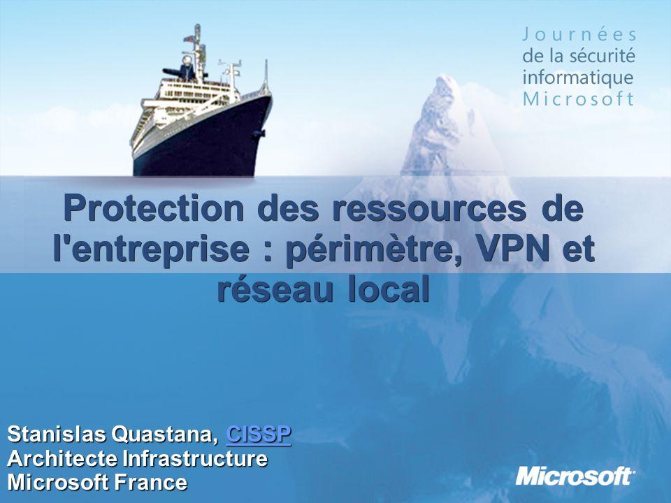 Le même exemple de propagation dun ver comme Blaster ou Sasser au travers dun VPN Les connexions distantes peuvent également compromettre la sécurité