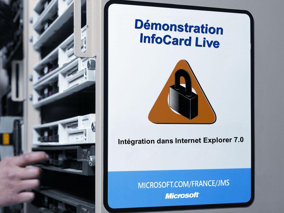 Démonstration InfoCard Live Intégration dans Internet Explorer 7.0