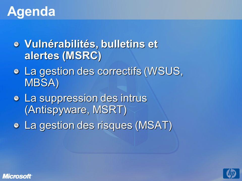 Microsoft Windows AntiSpyware Lutte contre les logiciels espions Aide à protéger les utilisateurs de Windows contre les logiciels espions et autres logiciels non désirés Détection et suppression des spywares / logiciels indésirables Détection et suppression des spywares / logiciels indésirables 9 agents en temps réel (dont Internet Explorer) 9 agents en temps réel (dont Internet Explorer) Analyses planifiées Analyses planifiées Arrêt des dernières menaces Arrêt des dernières menaces Communauté SpyNet : identifier les nouveaux spywares Communauté SpyNet : identifier les nouveaux spywares Mise à jour automatique des signatures Mise à jour automatique des signatures