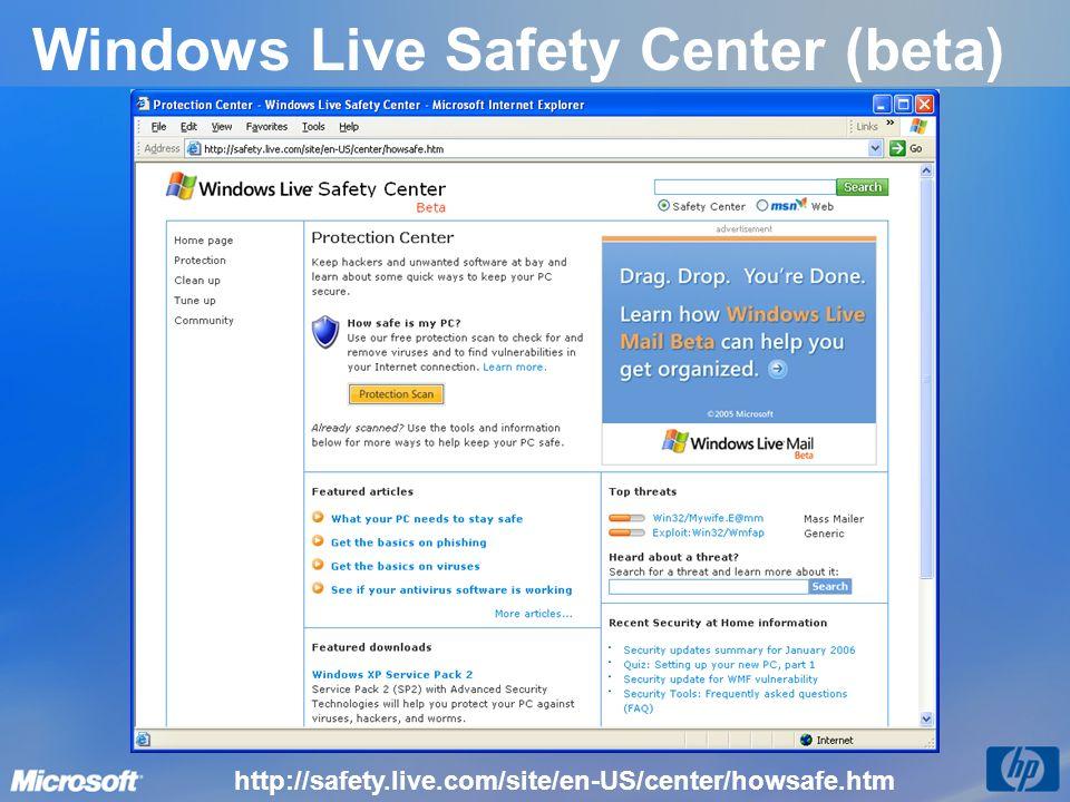 Windows Live Safety Center (beta) http://safety.live.com/site/en-US/center/howsafe.htm