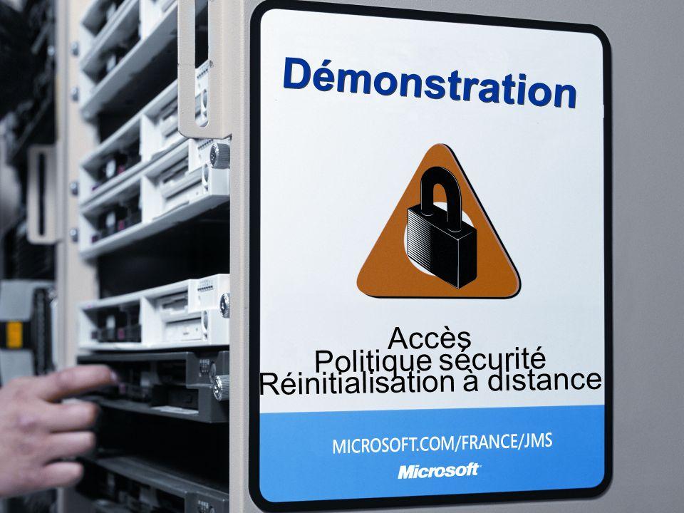 Démonstration Accès Politique sécurité Réinitialisation à distance