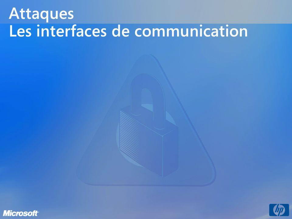 Attaques Les interfaces de communication
