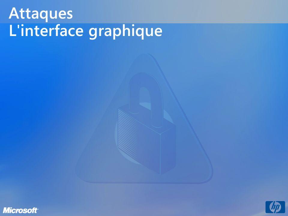 Attaques L'interface graphique