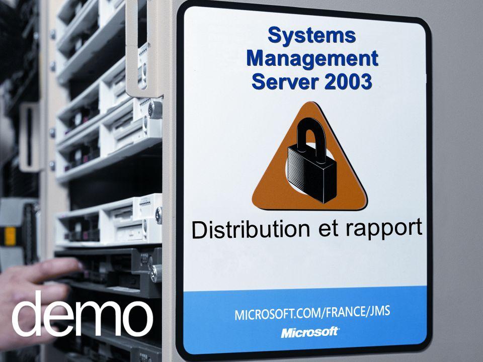 Distribution et rapport Systems Management Server 2003