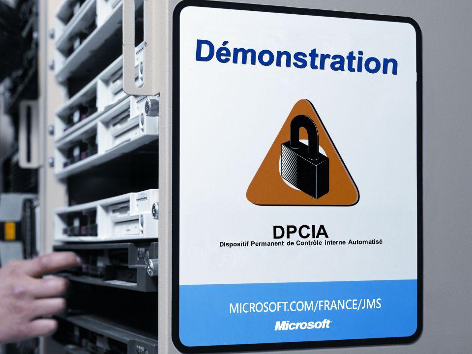 Démonstration DPCIA Dispositif Permanent de Contrôle interne Automatisé