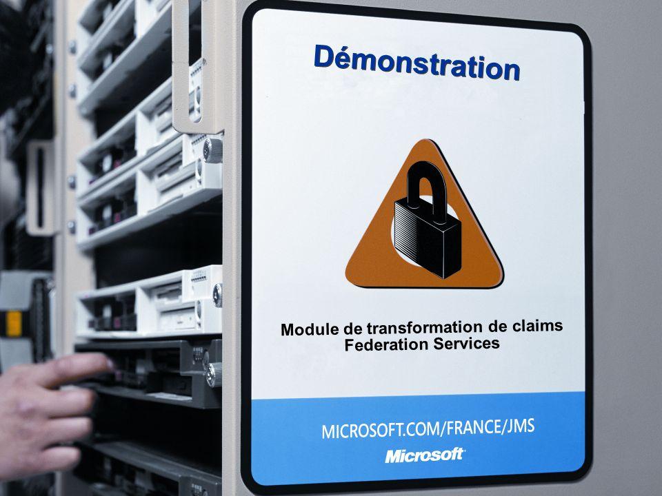 Démonstration Module de transformation de claims Federation Services