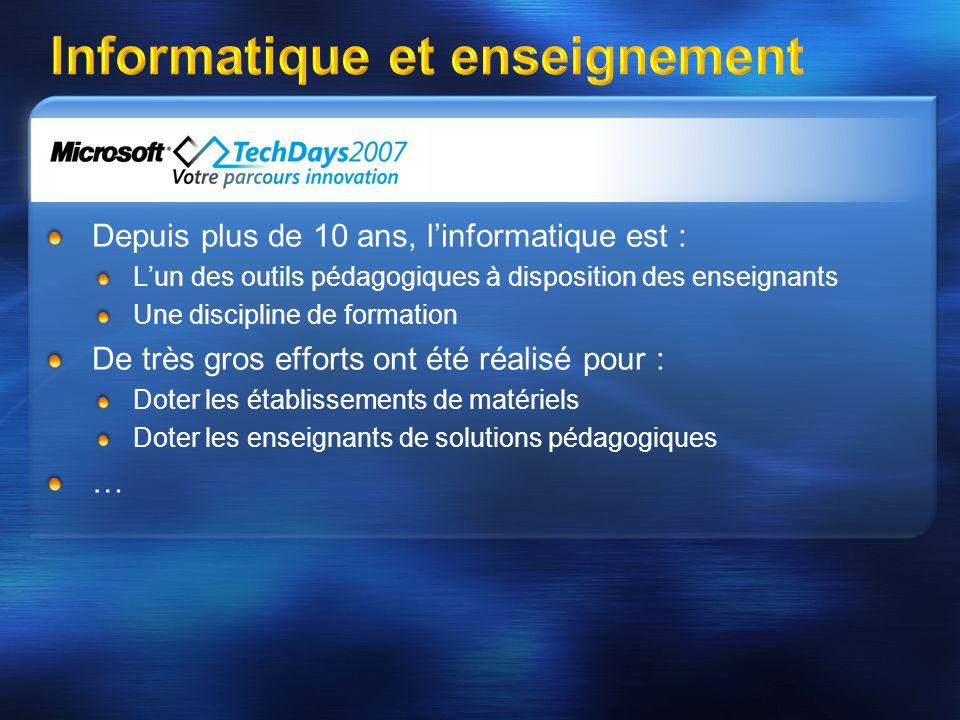 Des chiffres marquants Source : Ministère Education 2005 - Impulsion Ministérielle forte: apparition du BII, SDET….