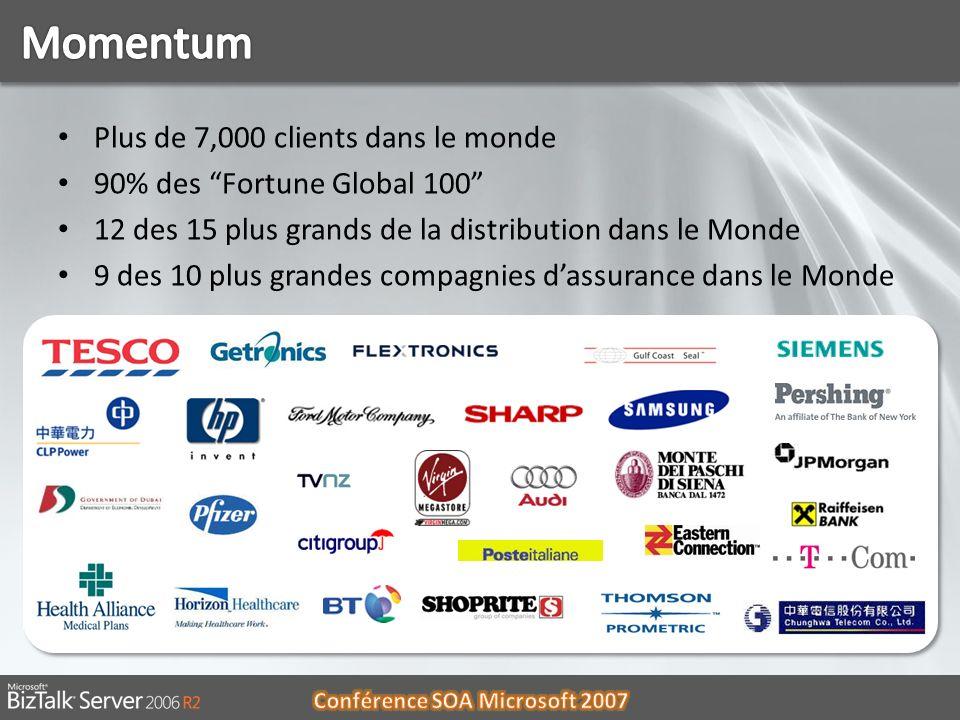 Plus de 7,000 clients dans le monde 90% des Fortune Global 100 12 des 15 plus grands de la distribution dans le Monde 9 des 10 plus grandes compagnies