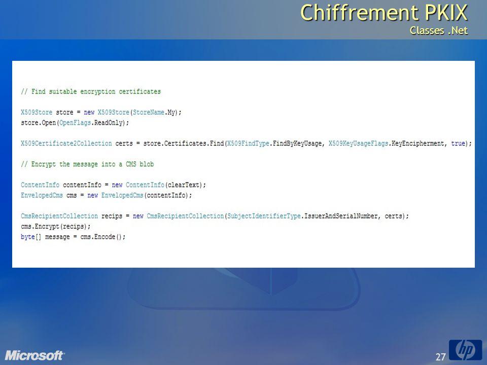 27 Chiffrement PKIX Classes.Net