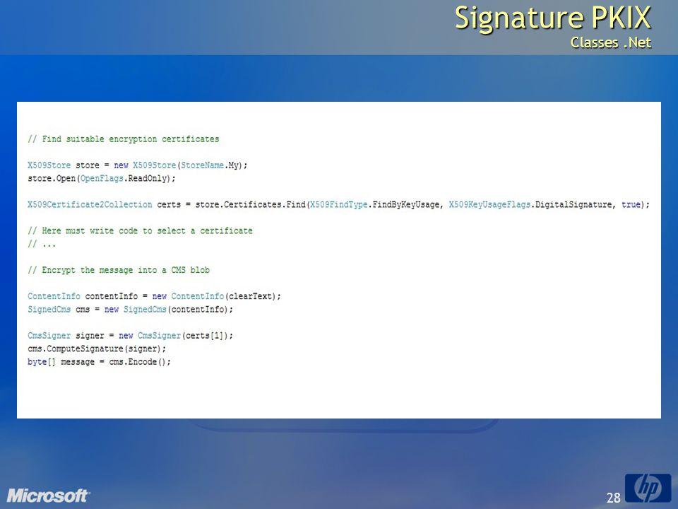 28 Signature PKIX Classes.Net