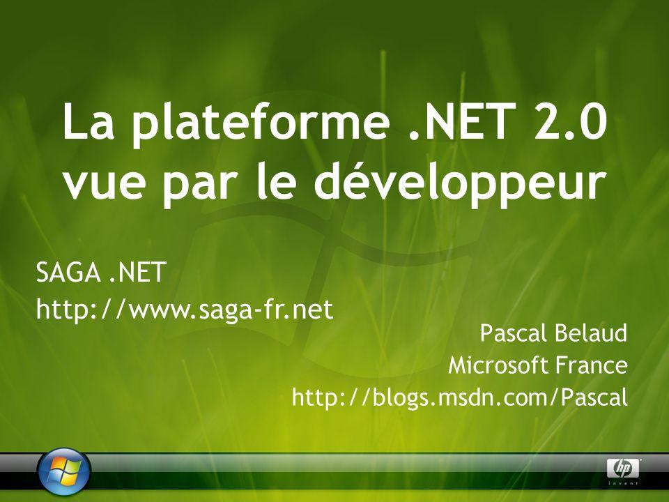 Microsoft.NET : les points essentiels Visual Studio 2005 Les XML Web Services Accès aux données et ADO.NET Déploiement par ClickOnce Les applications Web et ASP.NET Le développement sur terminaux mobiles Agenda de la présentation