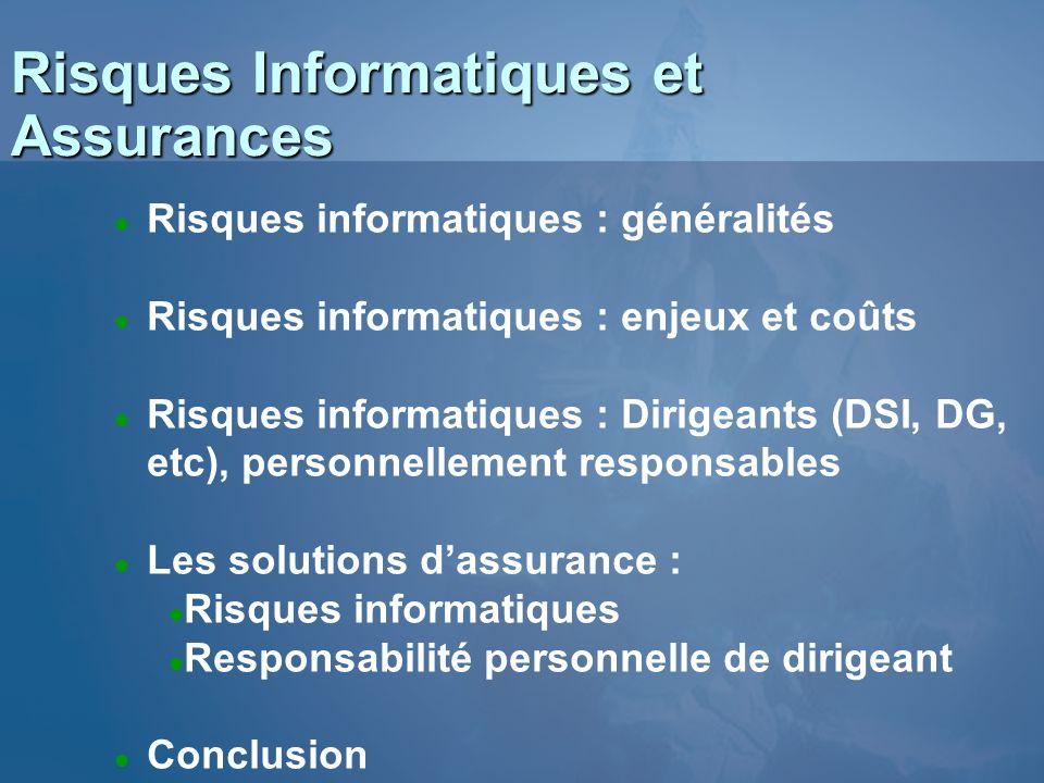 Risques Informatiques et Assurances Nicolas BAUDY Consultant en Assurances CGSSI - SFVA