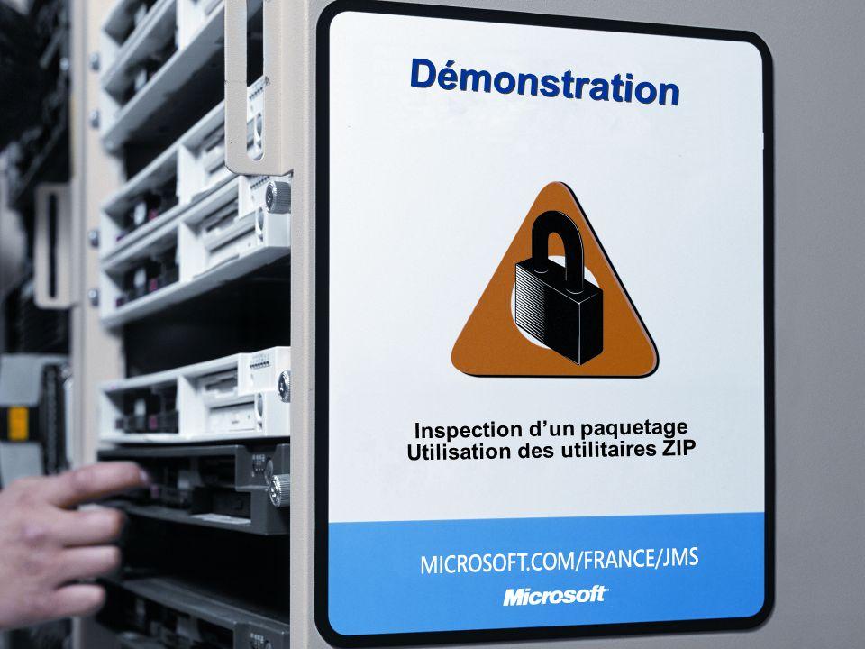 Démonstration Inspection dun paquetage Utilisation des utilitaires ZIP