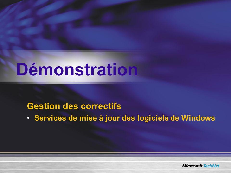 Gestion des correctifs Services de mise à jour des logiciels de Windows Démonstration