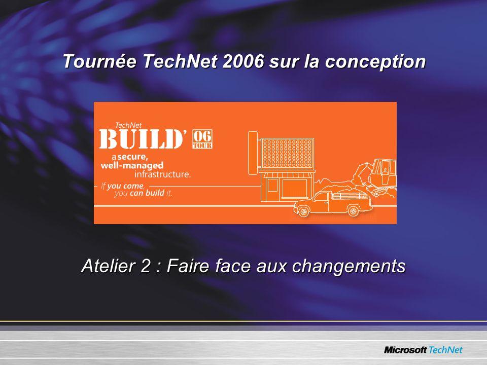Tournée TechNet 2006 sur la conception Atelier 2 : Faire face aux changements