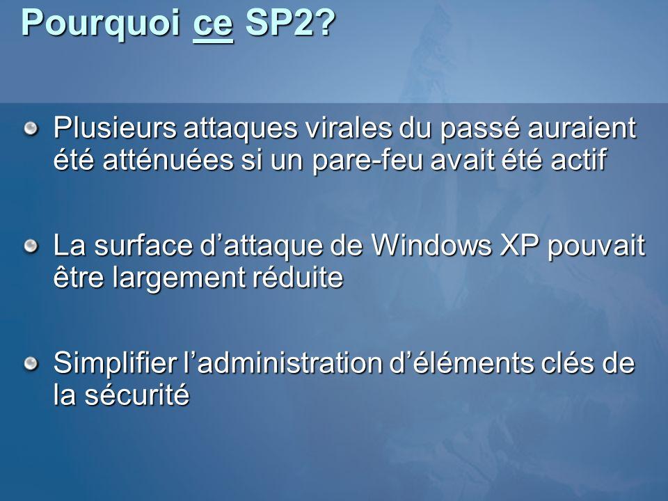 Pourquoi ce SP2.