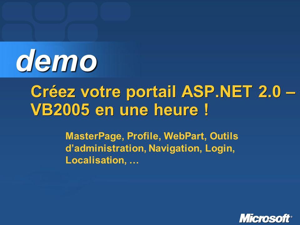 Créez votre portail ASP.NET 2.0 – VB2005 en une heure .