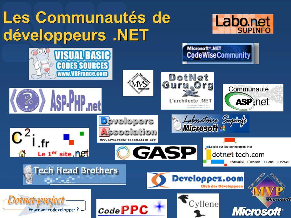 Les Communautés de développeurs.NET