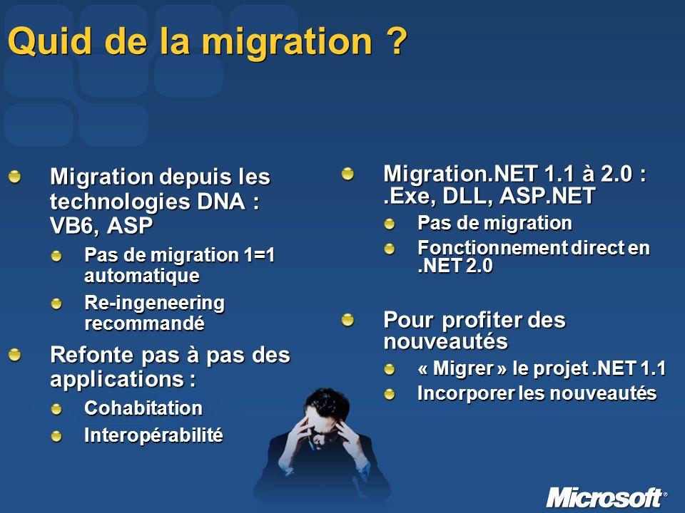 Quid de la migration .