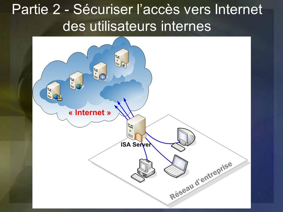 Partie 2 - Sécuriser laccès vers Internet des utilisateurs internes