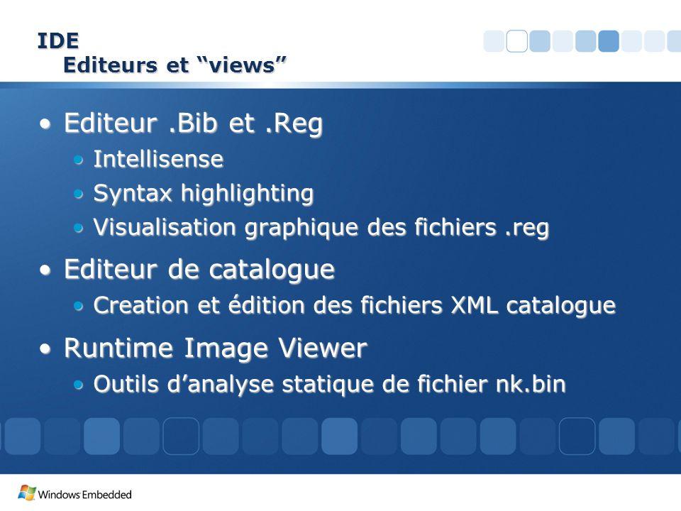 IDE Editeurs et views Editeur.Bib et.RegEditeur.Bib et.Reg IntellisenseIntellisense Syntax highlightingSyntax highlighting Visualisation graphique des