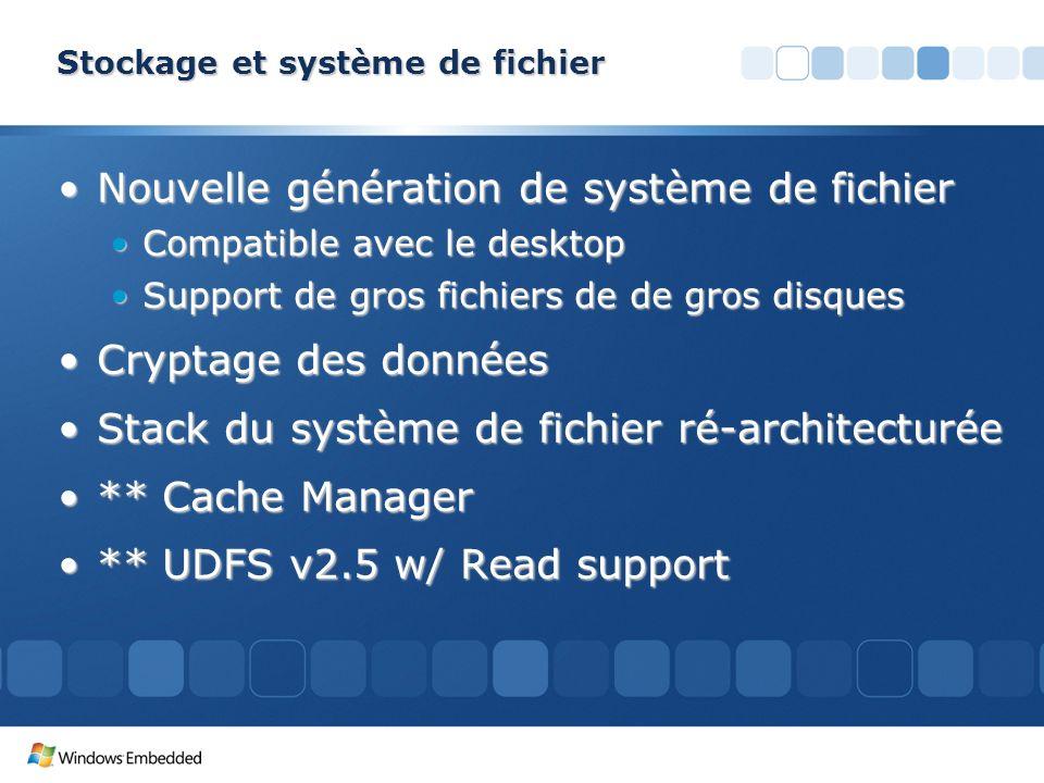 Stockage et système de fichier Nouvelle génération de système de fichierNouvelle génération de système de fichier Compatible avec le desktopCompatible